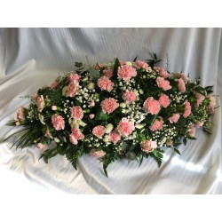 Pink Carnation Coffin Spray