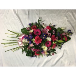 Single Ended Coffin Spray With Stems