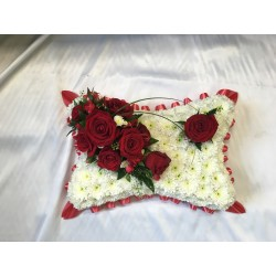 Red And White Pillow
