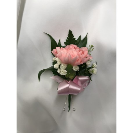 Ladies Pink Carnation Button Hole
