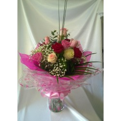 Mixed Rose Aqua Pack Bouquet