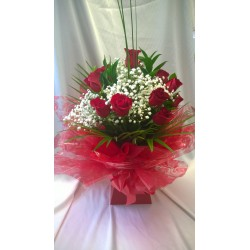 One Dozen Red Roses  Aqua Pack
