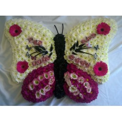 Large Floral Butterfly