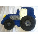 Blue Floral Tractor