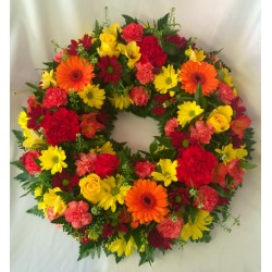 Red and Orange Loose Wreath