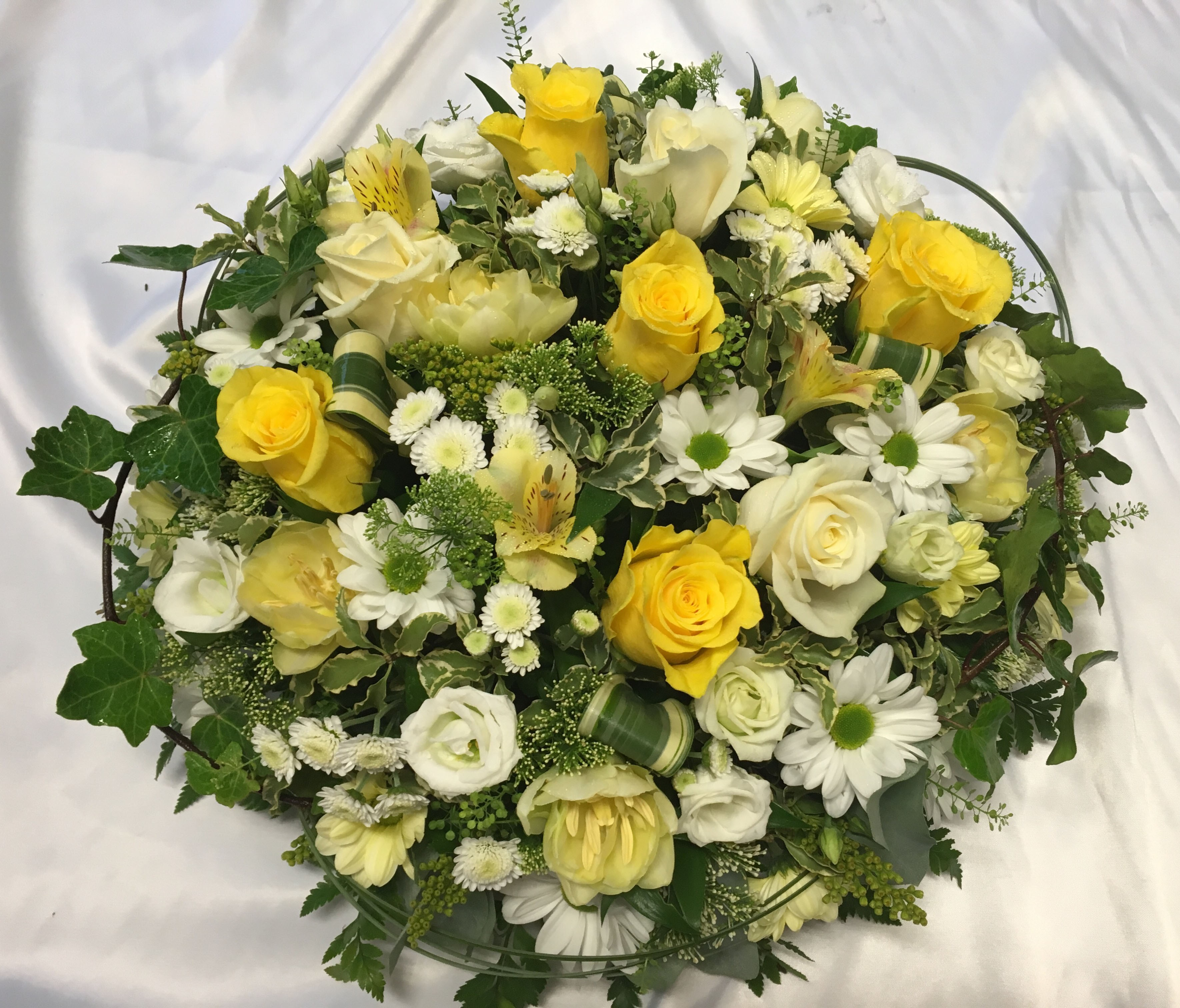 Yellow Funeral Posy Personal Flowers Of Crewe